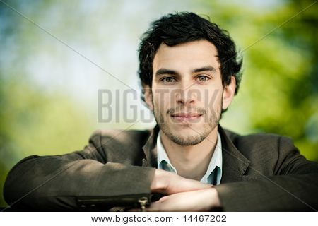 young caucasian man portrait