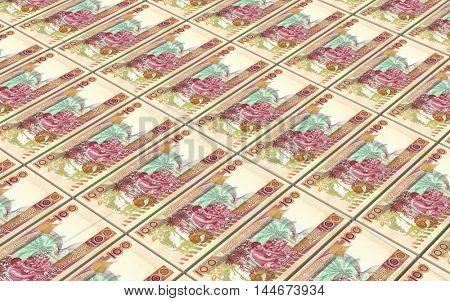 Solomon Islands dollars bills stacks background. 3D illustration.
