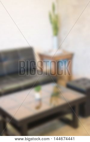 Blur room interior with furniture, stock photo