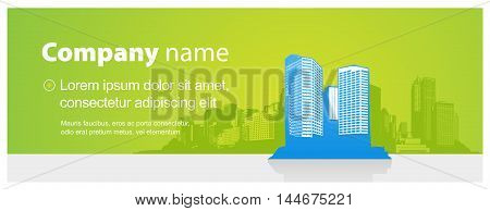 Header template with city and place for your text.