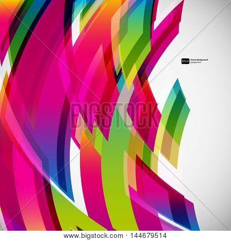 Abstract colorful rectangle pattern on a grey background. Transparent gradient elements for your design card.
