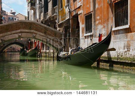 Gondola tour of the channels of Venice