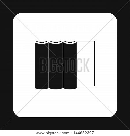 Rolls of paper icon in simple style on a white background