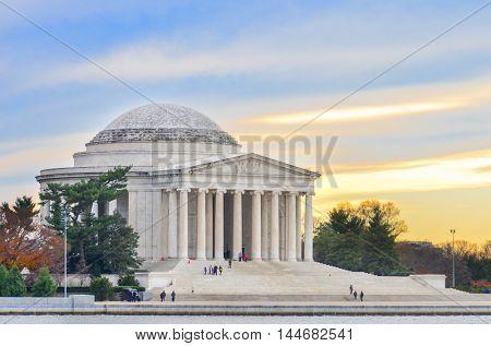 Washington DC - Jefferson Memorial at sunset