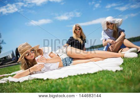 Girl Ignoring Her Friends