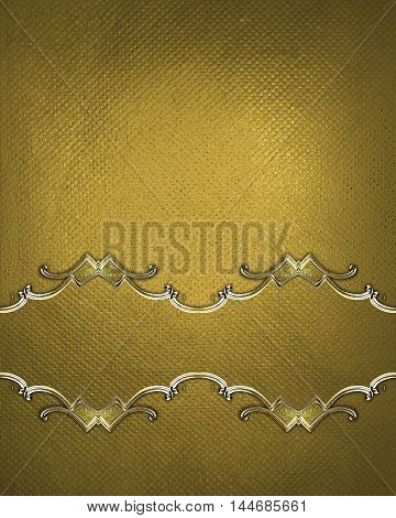 Yellow Background With Adornment. Template For Design. Copy Space For Ad Brochure Or Announcement In