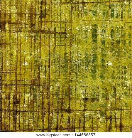 Old style distressed vintage background or texture. With different color patterns: gray; green; yellow (beige); brown