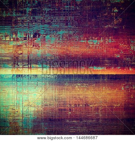 Retro background, antique texture for abstract vintage design composition. With different color patterns: blue; red (orange); purple (violet); yellow (beige); brown; pink