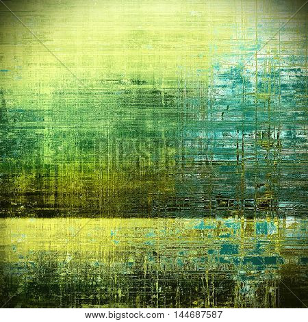 Scratched grunge background or spotted vintage texture. With different color patterns: gray; green; blue; yellow (beige); black; cyan