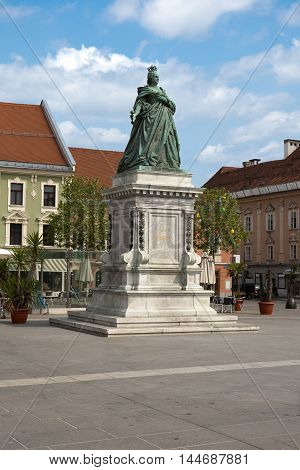 Empress Maria Theresia Monument in Klagenfurt. Austria.