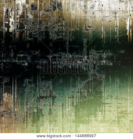 Grunge texture, decorative vintage background. With different color patterns: gray; green; yellow (beige); brown; white; black
