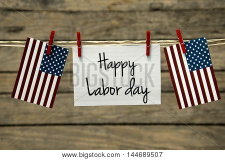Happy Labor day greeting card or background