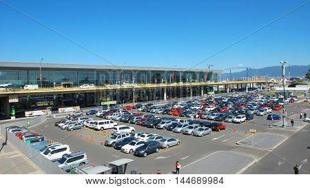 Bogota, Cundinamarca / Colombia - January 22 2016: Activity outside the El Dorado International Airport in the city of Bogota