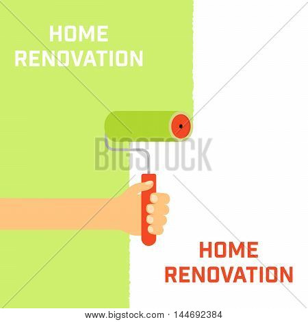 Home renovation concept. The emblem of home repair.