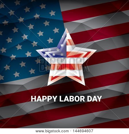 USA Labor day vector background or poster. Labor day icon