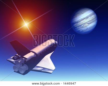 Shuttle In The Sky