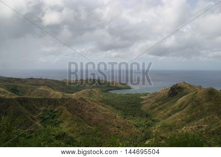Mountains and Hills of Guam in winter