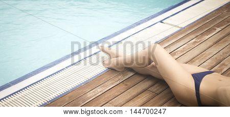 Young Lady Sunbathing Summer