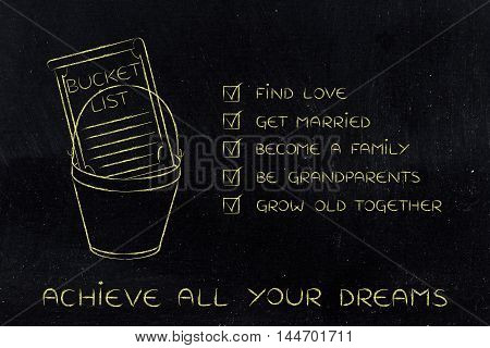 Bucket List Of Love And Family-related Dreams To Accomplish