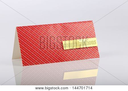 congratulations greeting card on the white background