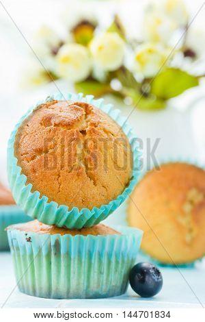 Festive muffins for dessert, delicious homemade cakes