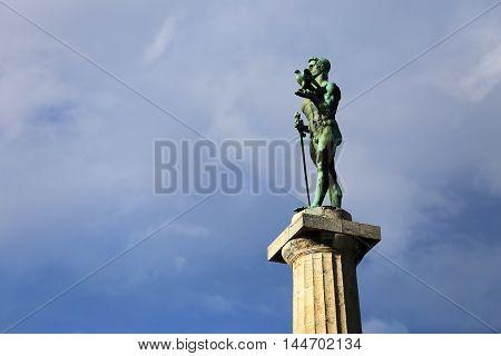 Monument of Belgrade winner at Kalemegdan fortress in Belgrade,Serbia