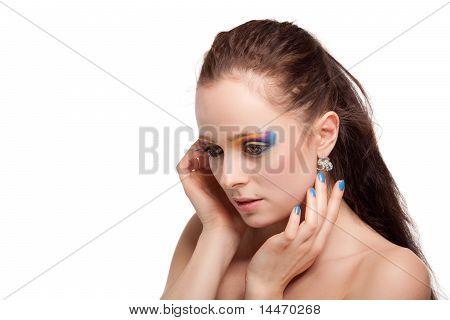 Portrait Of Beautiful Caucasian Young Woman