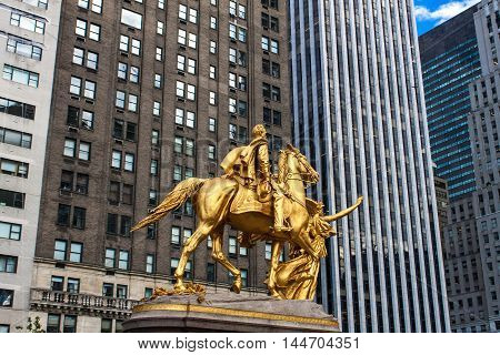 General William Tecumseh Sherman Monument In New York