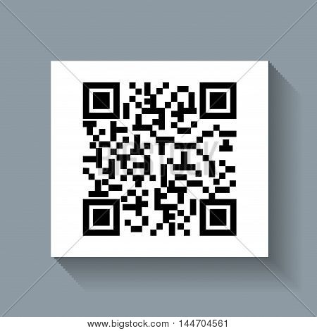 system qr code id product vector illustration design