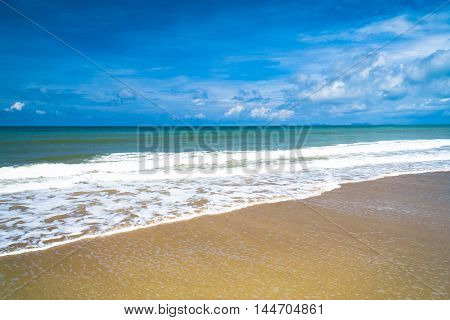 On a Beach Serene Waters