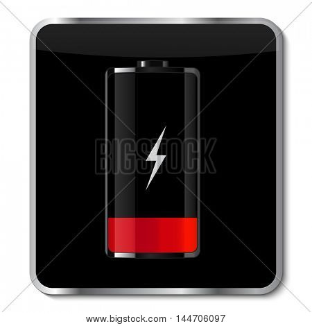 Battery app icon illustration on a white background