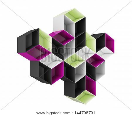 3D abstract colored  top shelf  design