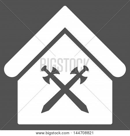 Guard Office icon. Vector style is flat iconic symbol, white color, gray background.