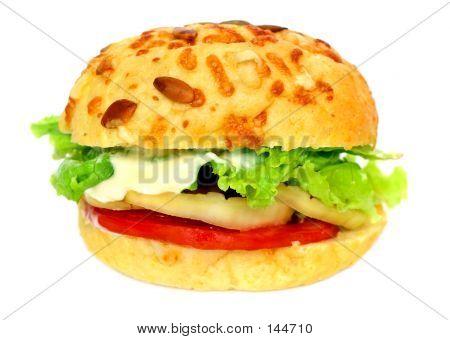 Veggie Burger Over White