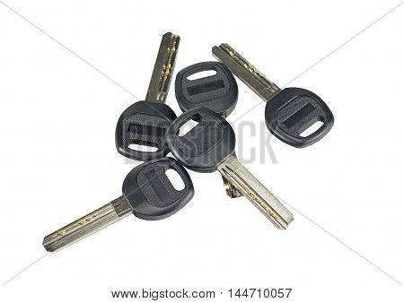 the new keys isolated on white background