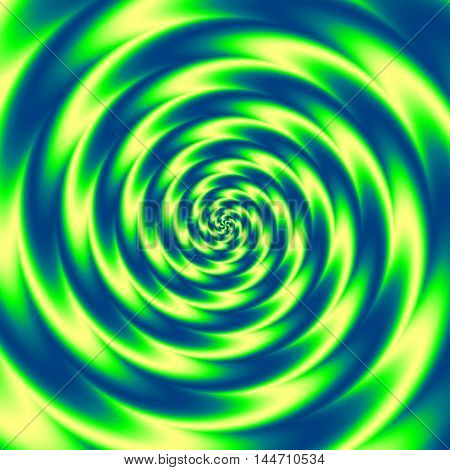 blue yellow and green magic rounded swirl background