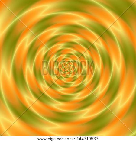 green and orange magic rounded swirl background