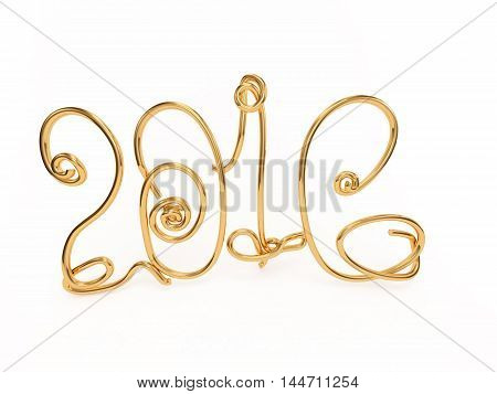 number of years gold figures on a white background 3D illustration