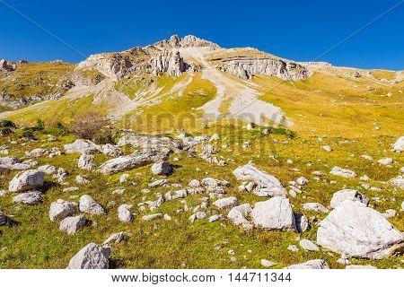Mountain in Fisht - Oshten mountain massif. Caucasus. Russia.