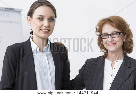 Helpful Superior Supporting Her Team Member
