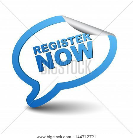 This is blue vector element bubble register now