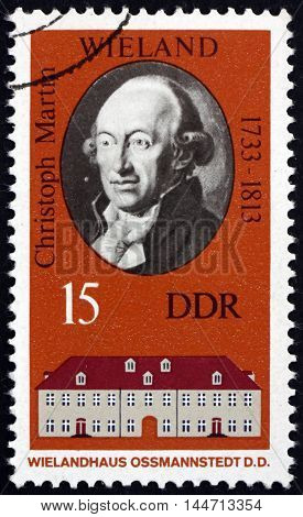 GERMANY - CIRCA 1973: a stamp printed in Germany shows Christoph Martin Wieland German Poet and Writer circa 1973