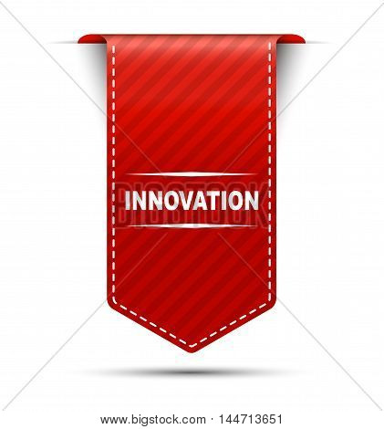This is red vector banner design innovation