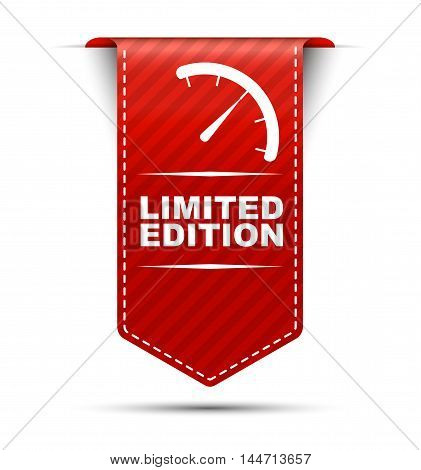 This is red vector banner design limited edition