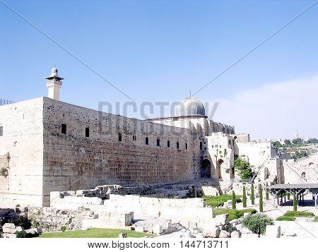 Jerusalem Israel - April 26 2005: Al-Aqsa Mosque.
