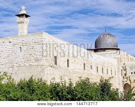 Jerusalem Israel - December 2 2012: Al-Aqsa Mosque.