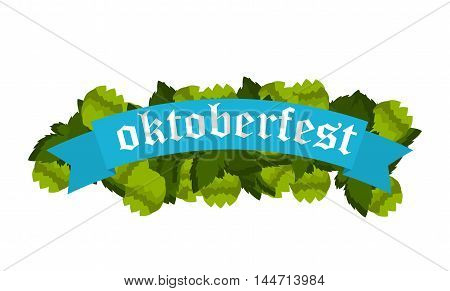 Oktoberfest banners in bavarian colors vector set. Bavaria festival white and blue Oktoberfest ribbon. Munich design national icon Oktoberfest ribbon culture tradition colorful sign.
