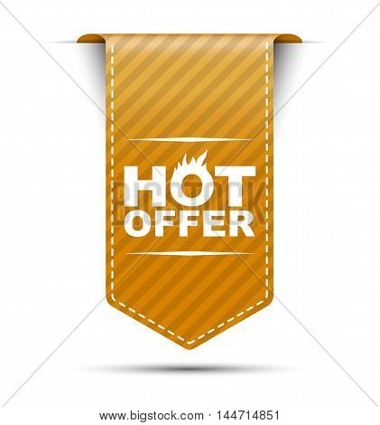 This is orange vector banner design hot offer