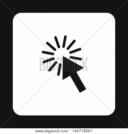 Cursor arrow icon in simple style isolated on white background. Computer and internet symbol
