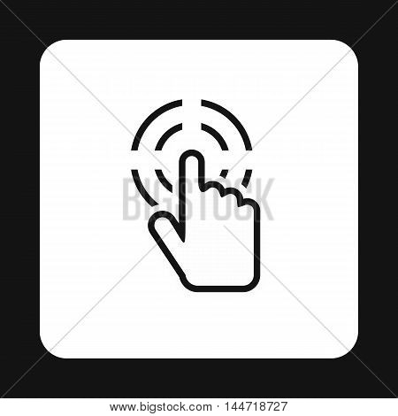 Cursor hand target icon in simple style isolated on white background. Computer and internet symbol